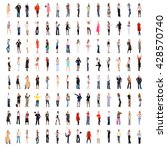many colleagues workforce... | Shutterstock . vector #428570740