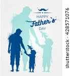 happy fathers day flyer  banner ... | Shutterstock .eps vector #428571076