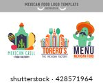 mexican food logo. logo design... | Shutterstock .eps vector #428571964