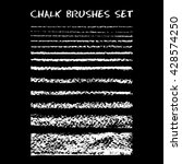 set of chalk brushes. vector... | Shutterstock .eps vector #428574250