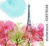 eiffel tower. spring paris.   Shutterstock . vector #428578168