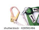 closeup fall protection harness ... | Shutterstock . vector #428581486
