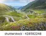 driving on winding asphalt road ...   Shutterstock . vector #428582248