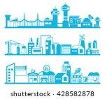 set of vector cityscape | Shutterstock .eps vector #428582878