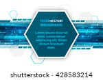 technology concept design with...