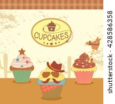 illustration vector of cupcakes ... | Shutterstock .eps vector #428586358