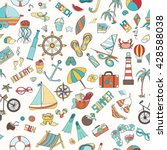 summer seamless pattern can be... | Shutterstock .eps vector #428588038