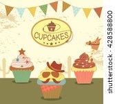 Illustration Vector Of Cupcake...
