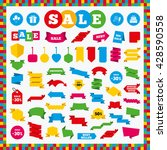 banners  sale stickers and sale ...   Shutterstock .eps vector #428590558