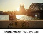 young romantic couple spending... | Shutterstock . vector #428591638