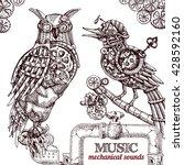 vector hand drawn mechanical... | Shutterstock .eps vector #428592160