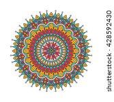 mandala.vector ornament pattern.... | Shutterstock .eps vector #428592430