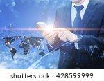 double exposure of professional ...   Shutterstock . vector #428599999