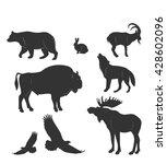set of animals wild beasts ... | Shutterstock .eps vector #428602096