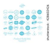 set of vintage premium quality... | Shutterstock .eps vector #428602426