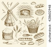 vector hand drawn bakery... | Shutterstock .eps vector #428602948