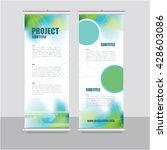 roll up banner template  ... | Shutterstock .eps vector #428603086