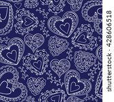 seamless pattern with... | Shutterstock .eps vector #428606518