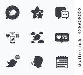 birds icons. social media... | Shutterstock .eps vector #428608003