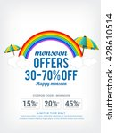 vector illustration sale banner ... | Shutterstock .eps vector #428610514