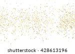 gold dust on white. like gold... | Shutterstock . vector #428613196