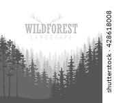 wild coniferous forest... | Shutterstock .eps vector #428618008