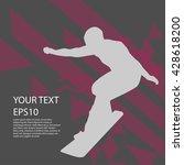 snowboard man silhouette modern ... | Shutterstock .eps vector #428618200