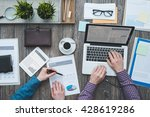 business partners working... | Shutterstock . vector #428619286