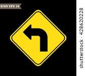 left turn sign.vector... | Shutterstock .eps vector #428620228