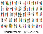 set of people of different... | Shutterstock .eps vector #428623726