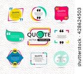vector set of creative quote... | Shutterstock .eps vector #428624503