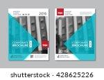 vector brochure flyer design... | Shutterstock .eps vector #428625226