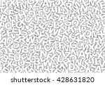 letters pattern mixed | Shutterstock . vector #428631820