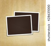 collage photo frame on vintage... | Shutterstock .eps vector #428635000