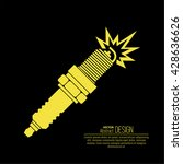 icon automobile spark plug. the ...   Shutterstock .eps vector #428636626