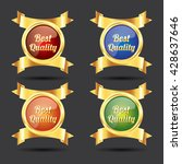 best quality label and badge... | Shutterstock .eps vector #428637646