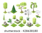 isometric plants and grass ... | Shutterstock .eps vector #428638180