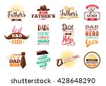 happy fathers day typography... | Shutterstock .eps vector #428648290