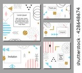 set of artistic colorful... | Shutterstock .eps vector #428648674