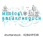 medicine concept breakthrough.... | Shutterstock .eps vector #428649538