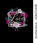 embroidery for fashion with... | Shutterstock .eps vector #428651608