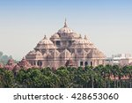 facade of a temple  akshardham  ... | Shutterstock . vector #428653060