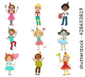 kids celebration set of bright... | Shutterstock .eps vector #428653819