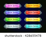 colorful shiny horizontal game...