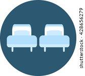 twin beds | Shutterstock .eps vector #428656279