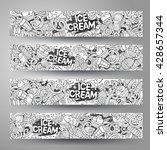 cartoon line art vector hand... | Shutterstock .eps vector #428657344