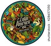 latin america. cartoon vector... | Shutterstock .eps vector #428657350