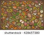 colorful vector hand drawn... | Shutterstock .eps vector #428657380