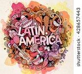 latin america. cartoon vector... | Shutterstock .eps vector #428657443
