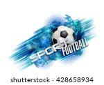 design sports football banner... | Shutterstock .eps vector #428658934